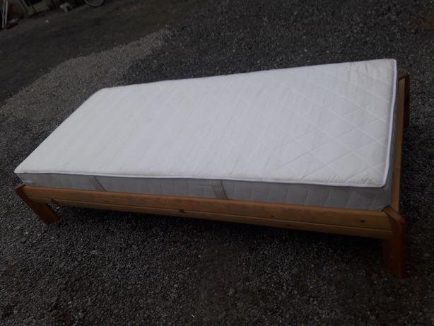 Łóżko drewniane z materacem 90/200