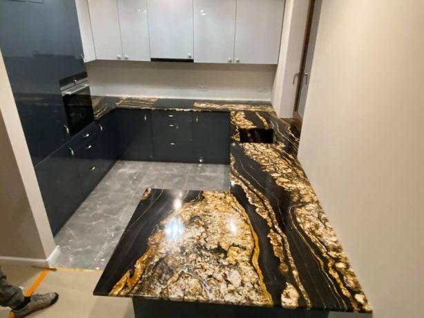Blaty kuchenne łazienkowe schody ,kominki . Granit Kwarcyt Marmur