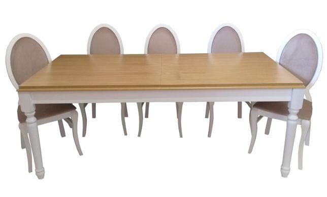 Stół Paolo 160/240x90 + krzeseł Infinity , GLAMOUR, 3 lata Gwarancji