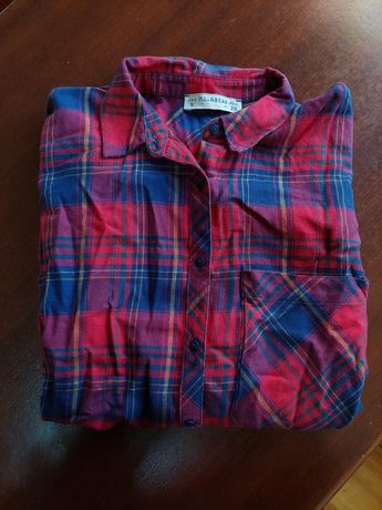 Camisa aos quadrados tipo padrão escocês