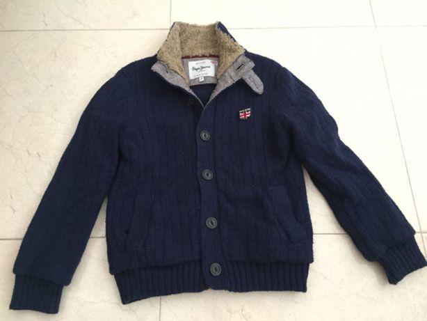 casaco pepe jeans criança (8 anos) quase novo