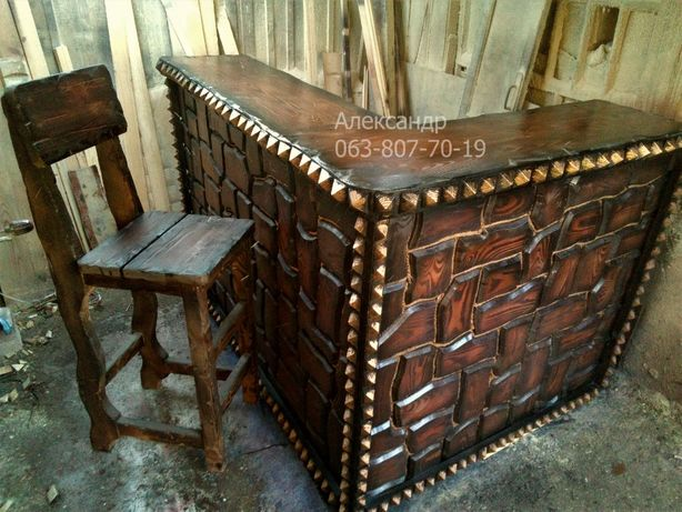 Барная стойка, бар, мини-бар, барные стулья, все для бара из дерева