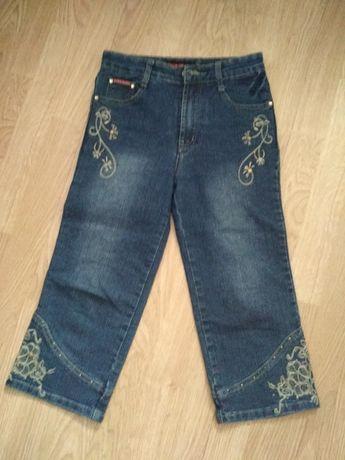 Дитячі джинсові штани/бріджі з вишивкою