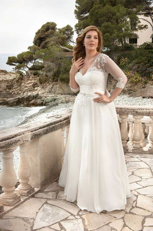 Suknia ślubna kremowo beżowa