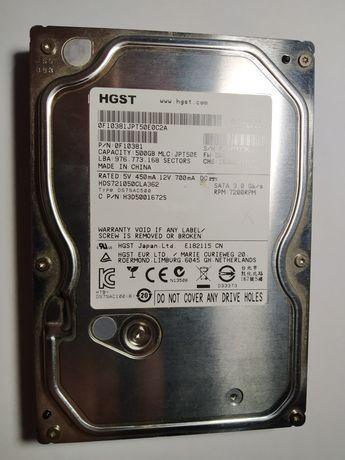 Жесткий диск HGST Hitachi 500 GB, 7200 RPM, 16 MB, SATA 3.0 Gb ЖД