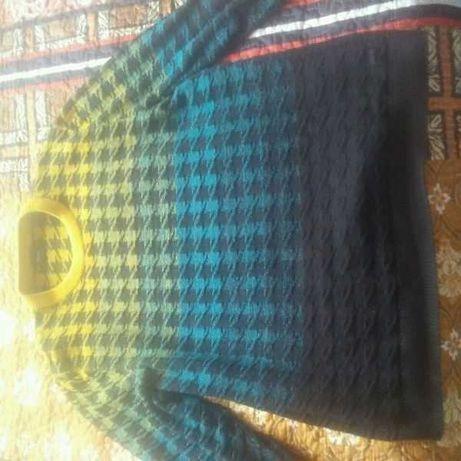 Sweter cieniowany Boss XL bawełna + wełna