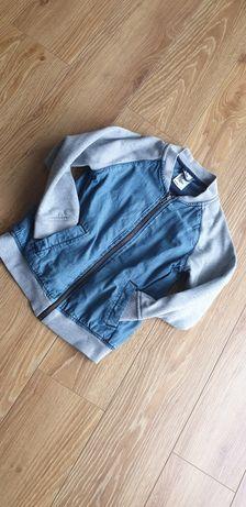 H&M bomberka jeans na podszewce 122