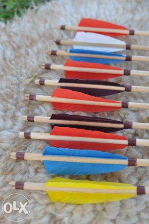 Стрела деревянная для стрельбы из лука, стрелы 10 шт