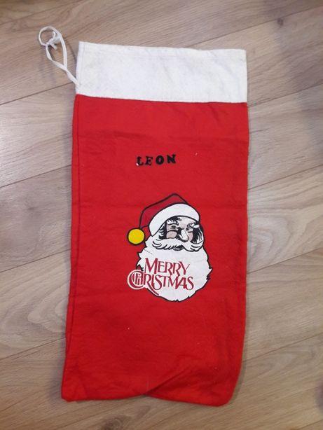 Mały worek świąteczny skarpeta ozdoba boże narodzenie na prezenty