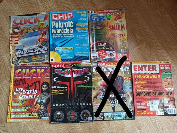 Cd-action 02/2000 gry komputerowe 2001 chip enter click