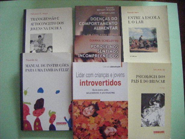 Livros psicologia infatil/juvenil e doenças de comportamento alimentar