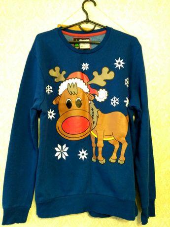Мужской новогодний свитер свитшот