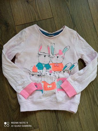 Next bluza z królikiem 2-3 lata 92-98 cm 3-4 lata 98-104 cm