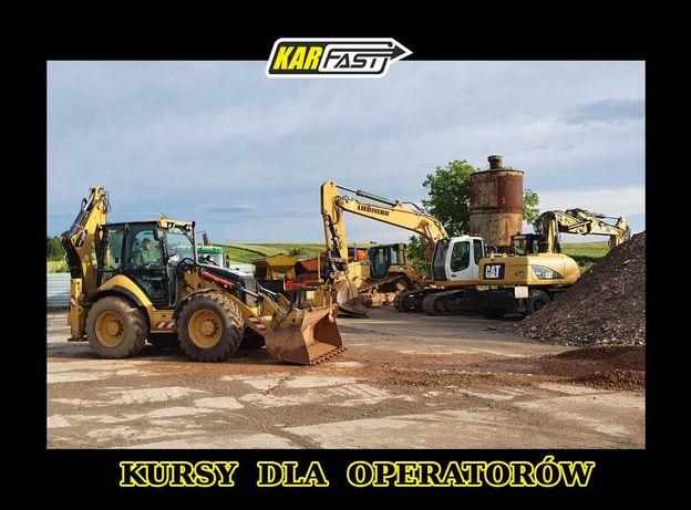 Kursy operatorów maszyn do robót ziemnych i drogowych.