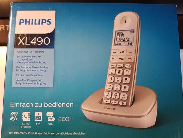 Telefon stacjonarny bezprzewodowy Philips XL490 XL4901S/38