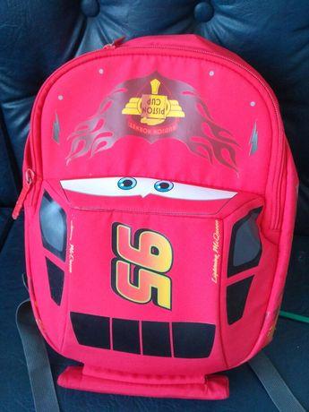 Рюкзак для школьников портфель сумка Маквин машина  красный яркий