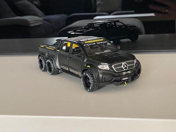 Model Mercedes x-class 6x6 pickup desing