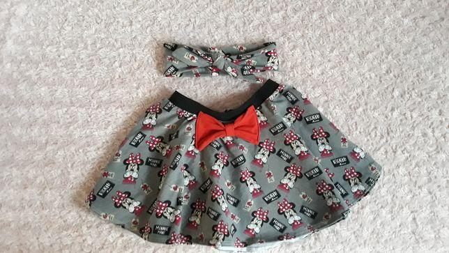 komplet minnie spódnica opaska 122 dla dziewczynki idealny