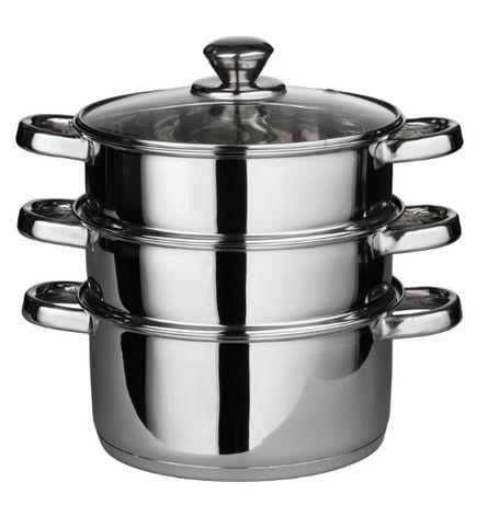Panela com 2 cestos cozinhar vapor