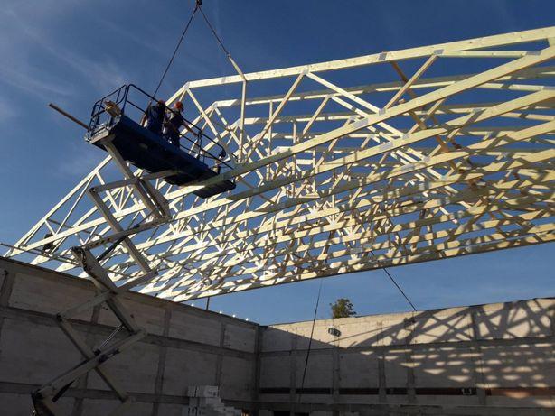 Wiązary dachowe - gotowa więźba dachowa // konstrukcja dachowa
