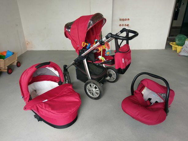 Wózek Baby Design Lupo 3w1 czerwony