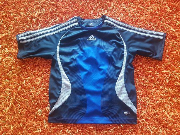 PORTES GRÁTIS - Camisola de Futebol Azul e Preta da Adidas (10Anos)
