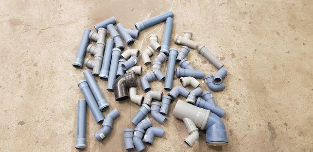 Rury kanalizacyjne PVC 75x2,5 kolana trójniki zatyczki redukcje mufa