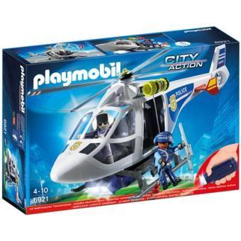 Playmobil 6921 Heli Policia c/luzes Led - NOVO