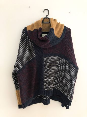 Patchworkowy sweter sweterek reporter 38