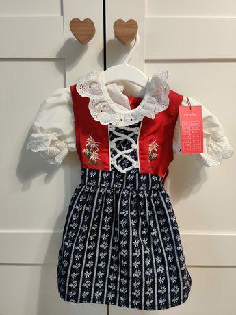 Sukienka dla dziewczynki 74. Strój Ludowy