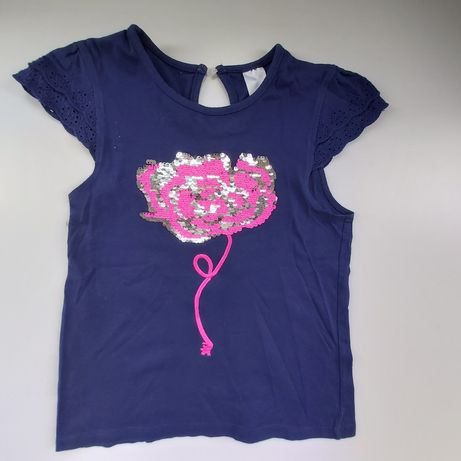 Śliczna bluzeczka dziewczęca. Cekiny,C&A