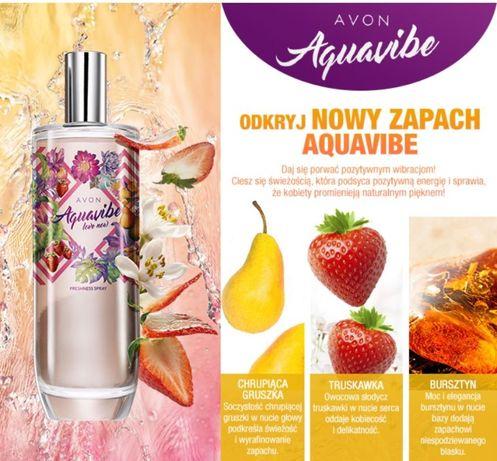 Perfumowana mgiełka do ciała Avon Aquavibe Love Now NOWA folia