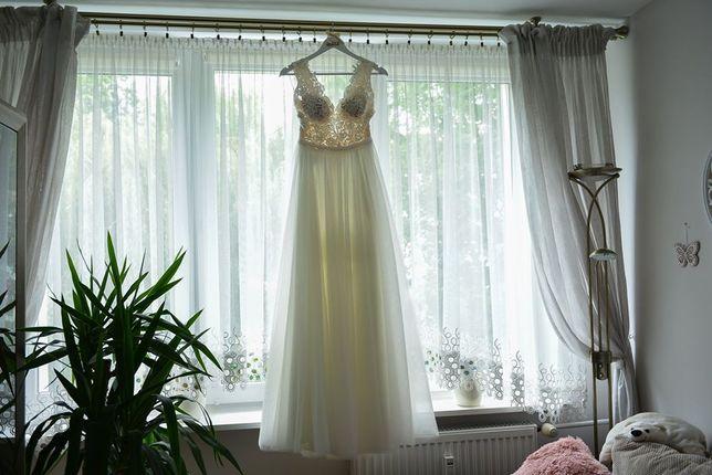 Suknia ślubna SYDNEY z salonu Mendelssohn 36/ 178 Ivory, koronka