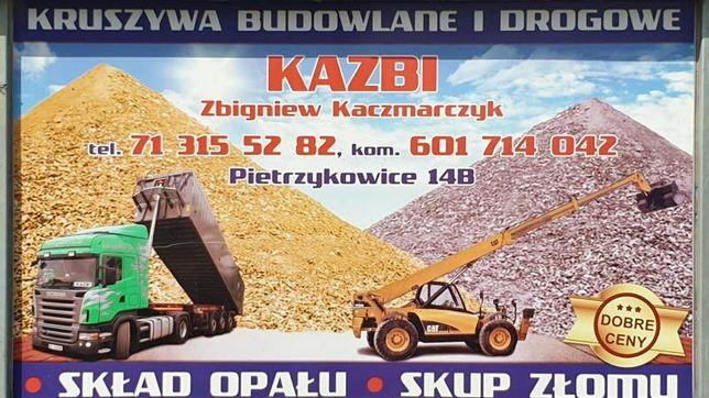 Kruszywa Drogowe,Budowlane Piasek Podsypkowy do zasypania fundamentów