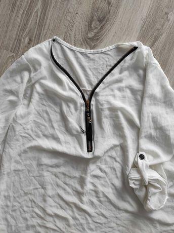 Koszula biała zamek tunika 52 54