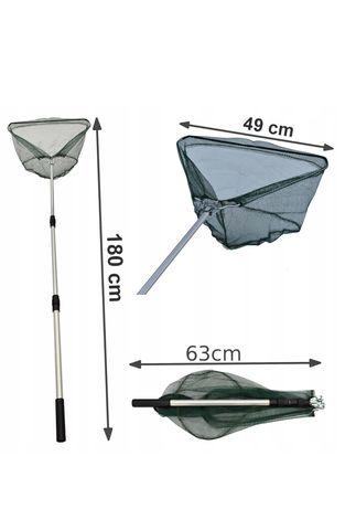 Podbierak Teleskopowy 180cm 3 sekcje Wędkarski Na Ryby