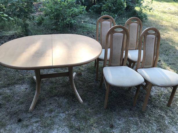 Stół rozkladany + 6 krzeseł