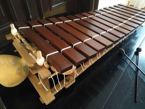Afrykański ksylofon pentatoniczny -balafon, marimba, gyil z drewna IPE