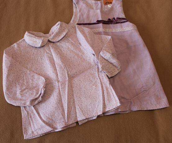 Conjunto camisola e vestido 9 meses