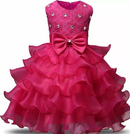 Śliczne sukienki wizytowe  Dostępne rozmiary od 92 do 146 Różne kolory