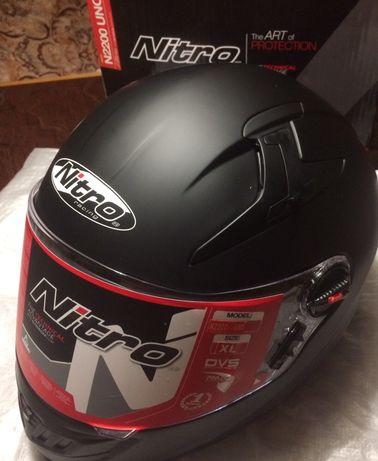 Шлем с очками интеграл Nitro N2200 UNO BLACK