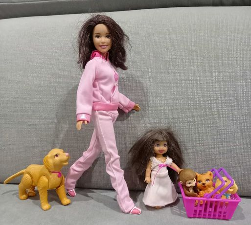 Barbie mattel i zwierzątka