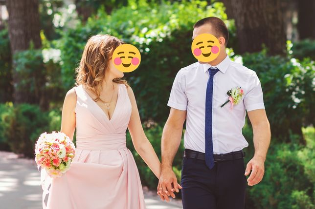 Вечернее, свадебное платье. Пудра.