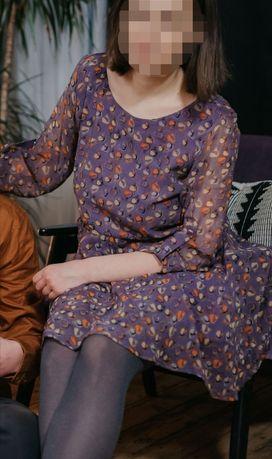 Платье шифон лёгкое сиреневый лиловый воздушное