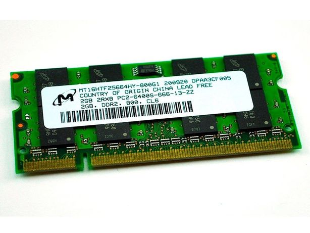 Оперативная память micron ddr2 2gb so-dimm 6400s, для ноутбука