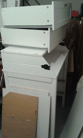 Ikea SUNDVIK Komoda drewniana z przewijakiem, biała   PILNE!