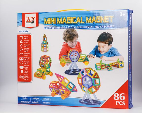 Магнитный конструктор Mini Magical Magnet 86 деталей