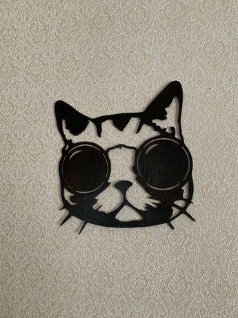 Деревянное панно «Кот»