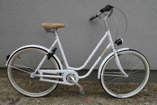 Wygodny designerski rower miejski Creme cycles Nexus 3 BIAŁA PERŁA