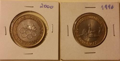 Moedas 200 escudos Sidney e Atlanta